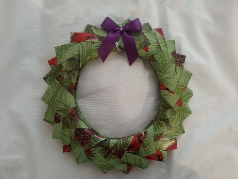 Easy Origami Old Book Page Wreath - DIY & Crafts | 368x490
